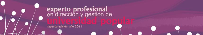 Participación Activa en el Curso de Experto en Dirección y Gestión de Universidades Populares. (2011)