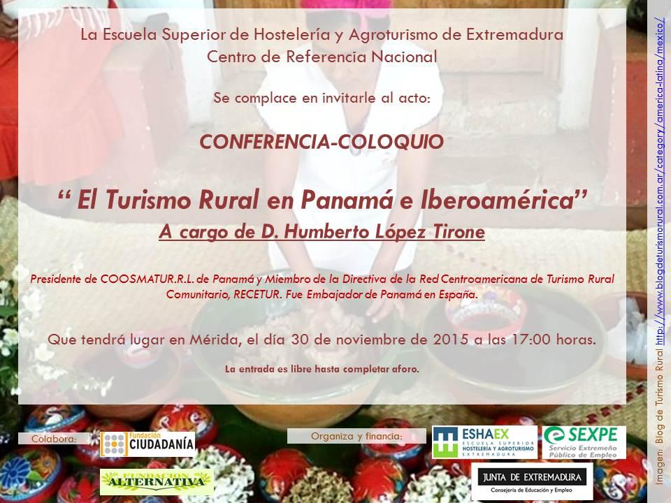 Humberto López analiza el Turismo Rural Iberoamericano en la Escuela Superior de Hostelería y Agroturismo de Extremadura.