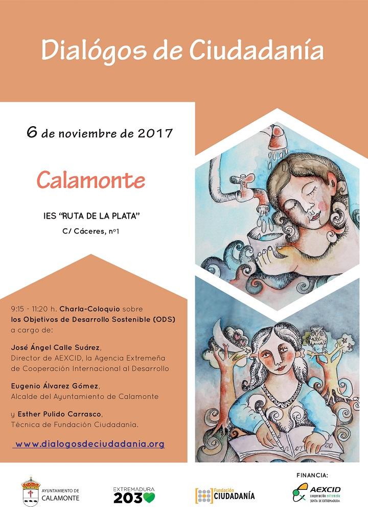 Calamonte acoge Diálogos de Ciudadanía el próximo día 6 de noviembre.