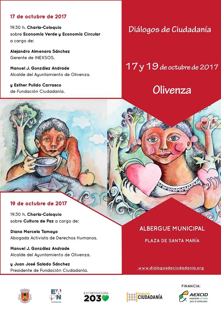 El segundo Diálogo de Ciudadanía, se celebra esta tarde en Olivenza.