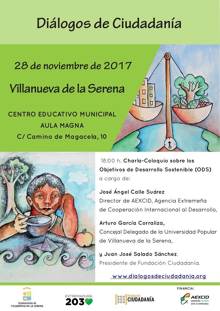 Diálogos de Ciudadanía, se celebra hoy, 28 de noviembre en Villanueva de la Serena.