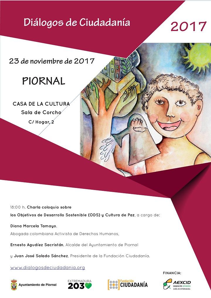 El Proyecto «Diálogos de Ciudadanía», se celebrará el próximo día 23 de octubre en Piornal.