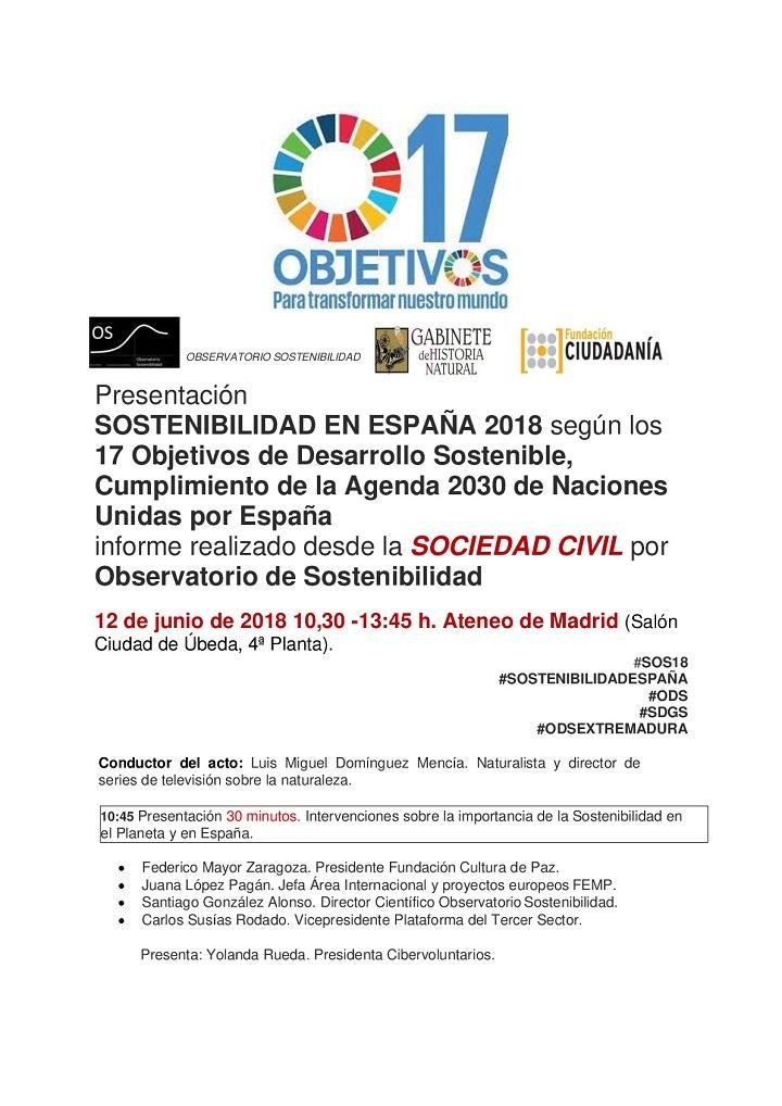 Sostenibilidad en España, según los 17 Objetivos de Desarrollo Sostenible.