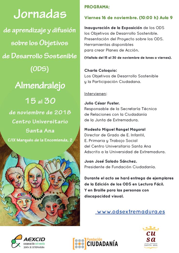 Charla Coloquio sobre los Objetivos de Desarrollo Sostenible y la Participación Ciudadana en Almendralejo.