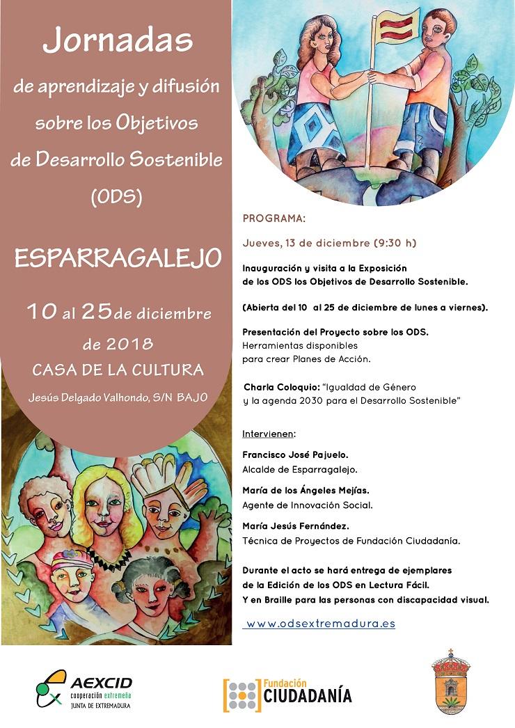 Esparragalejo acoge las Jornadas de Aprendizaje y Difusión sobre los ODS.