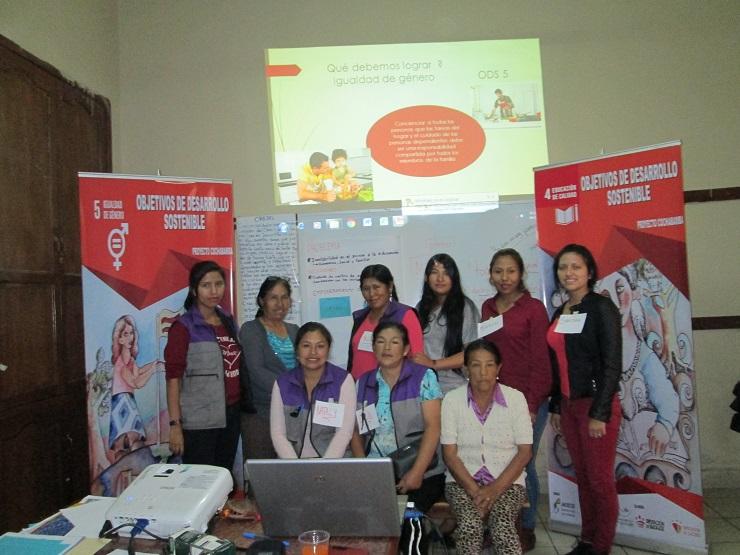 Seguimos trabajando los ODS con la Oficina Jurídica para la Mujer en Bolivia.
