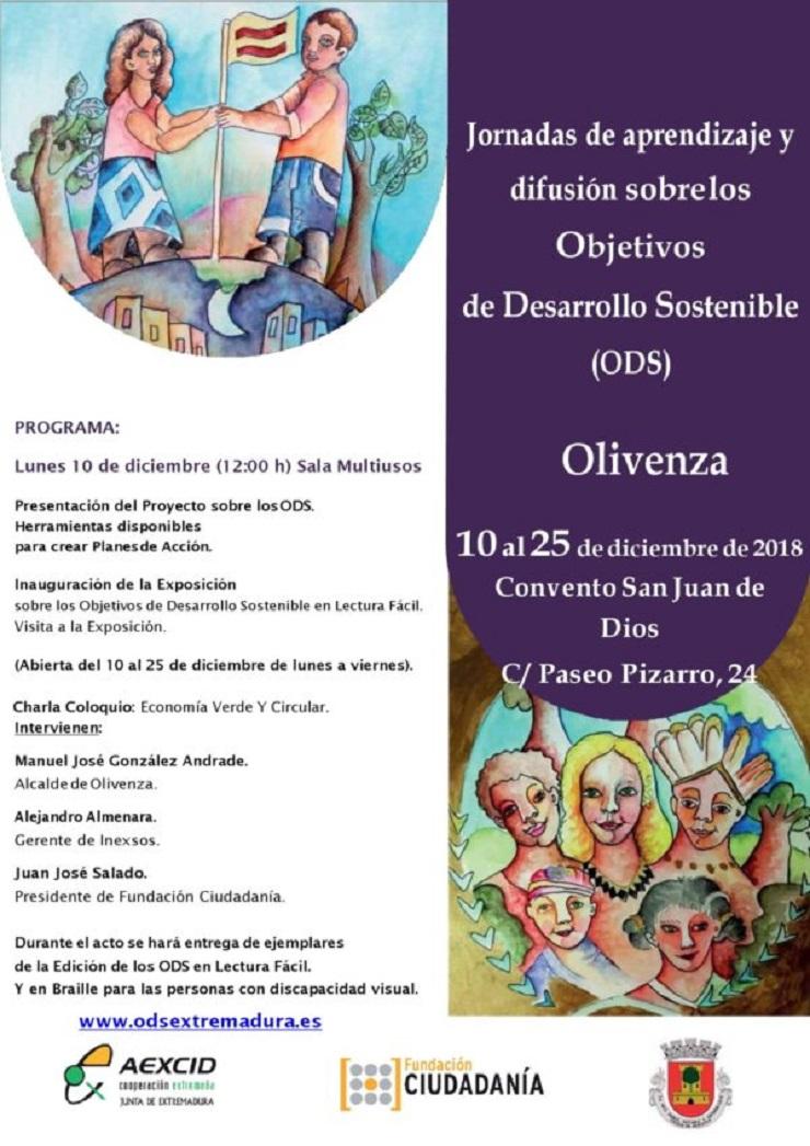 Jornada de Aprendizaje y Difusión sobre los ODS en Olivenza.