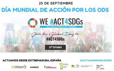 25 de septiembre. Día Mundial de Acción por los ODS en Extremadura